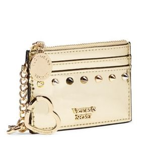 Victoria's Secret Gold Studded Key Card Case